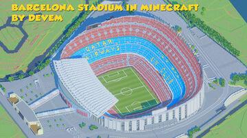 Barcelona Stadium Camp Nou 1 block = 1 meter Minecraft Map & Project