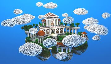 COMMISSION | Baroque/Greek Skyblock Spawn Minecraft Map & Project