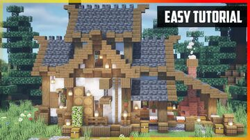 ⚒️ Minecraft: Medieval Bakery | Easy Tutorial Minecraft Map & Project