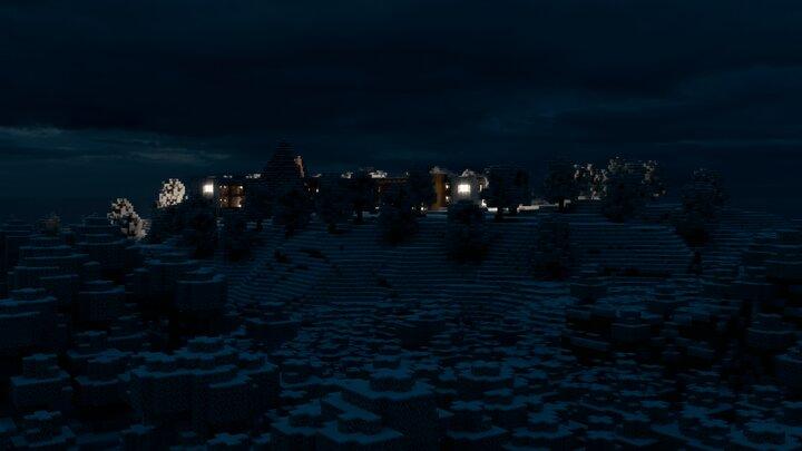 The Sami Parliament at night