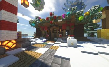 Winter Snowy Cabin Minecraft Map & Project