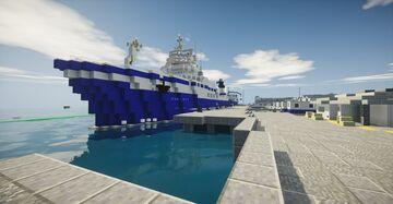 Port Nelson (NZ) - 1:1 BTE Minecraft Map & Project