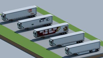Utility 3000R 53' Reefer trailer [With Download] Minecraft Map & Project