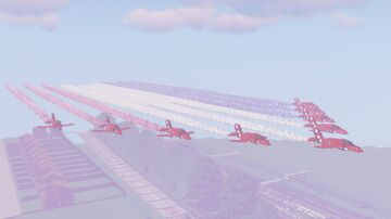RAF Red Arrows Minecraft Map & Project