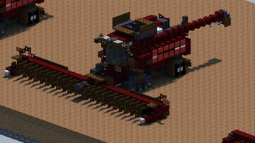 Case IH 9240 Combine Harvester [With Download] Minecraft Map & Project