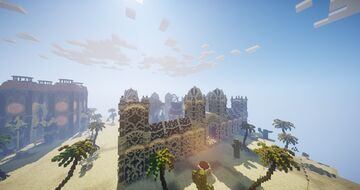 DESERT FACTION MAP + WARZONE (800x800) WITH KOTH + ANTI BACK AP Minecraft Map & Project