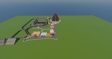 Jurassic World Mainstreet Update #2 (Innovation Center, Monorail Station, and Unfinished Mosasaurus Arena) Minecraft Map & Project