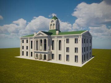 Lafayette County Courthouse, MS // ERT Minecraft Map & Project