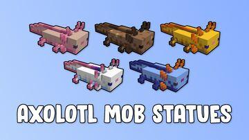 Axolotl Mob Statues Minecraft Map & Project