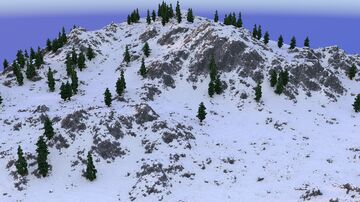 Snowy Mountains Terrain 2048x2048 | 1.8+ Minecraft Map & Project