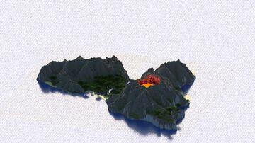 Samael - 1k x 1k Custom Volcanic Island terrain Minecraft Map & Project