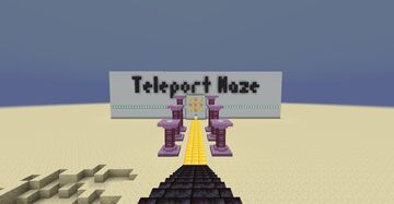 Teleport Maze Minecraft Map & Project