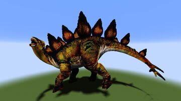 Stegosaurus Statue - in two sizes! Minecraft Map & Project