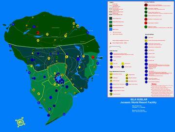 Isla Nublar 2015 1:2 Bedrock Minecraft Map & Project