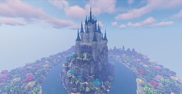 Fantasy castle and small forest - [Timelapse + Download] Minecraft Map & Project
