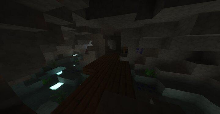 Modern Light Water Cave
