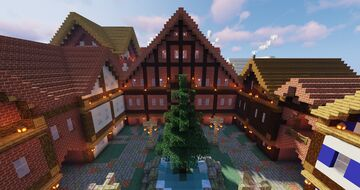 Timber Frame Marketplace Minecraft Map & Project