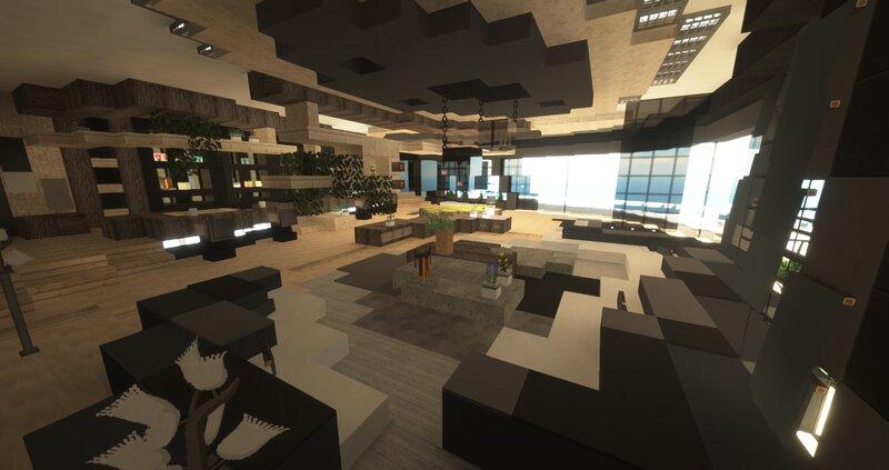 Main living room, game room, bar