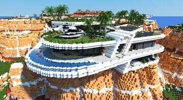 Modern Cliffside Villa 3 | 45 rooms + download! Minecraft Map & Project