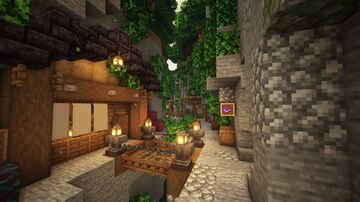 Ravine Trading Outpost Minecraft Map & Project