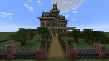 Victorian / Second Empire house Minecraft Map & Project