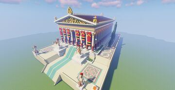 Greek Grand Temple of Apollo / Assassin's Creed Odyssey Minecraft Map & Project