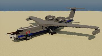 Beriev A-40 - 1.5:1 Scale Minecraft Map & Project