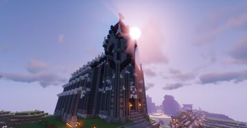 The Anglear Cathedral of Athesne's Wreck Minecraft Map & Project