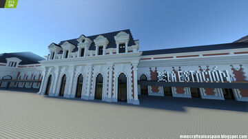 Minecrafteate in RTX: Minecraft Replica of La Estación, Burgos, Spain. Minecraft Map & Project