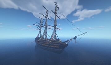 The Silver Shard - Fictional Ship of The Line Minecraft Map & Project
