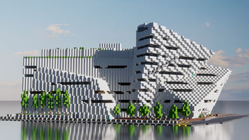 Run Run Shaw Creative Media Centre, Hong Kong - 1:1 scale Minecraft Map & Project