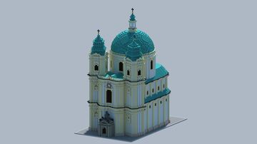 baroque church based on the Peterskirche in Vienna Minecraft Map & Project