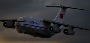 IL-76 Soviet Cargo Airplane Minecraft Map & Project