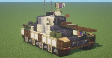 Pz.Kpfw. Panther II (Semi-fictional) (1.5:1 Scale) Minecraft Map & Project