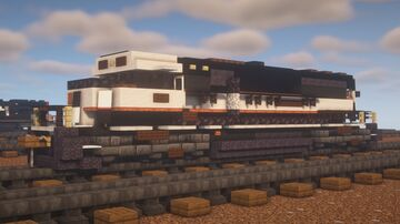 "BNSF - EMD SD70MAC ""BN Black & White"" Minecraft Map & Project"