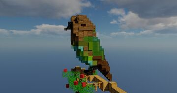 Brown Headed Parrot Minecraft Map & Project
