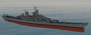 USS Missouri BB-63 [2:1 scale] Minecraft Map & Project