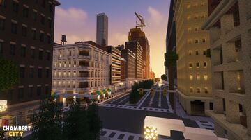Sunset view of the city Minecraft Map & Project