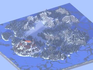 Winter Hunger games map (1.5k x 1.5k) Custom worldpainter world Minecraft Map & Project