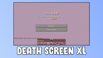 Death Screen XL Minecraft Map & Project