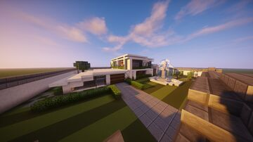 Huge Modern Minecraft Party House Minecraft Map & Project
