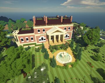 Victorian Mansion (With Hidden Bunker!) Minecraft Map & Project