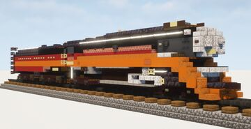"""1.5:1 Scale Southern Pacific GS-4 4449 """"Daylight"""" Minecraft Map & Project"""