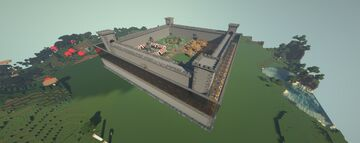 Medieval themed Castle Minecraft Map & Project