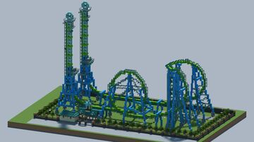 Steel shuttle Roller Coaster [With Download] Minecraft Map & Project