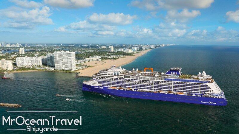 Celebrity EDGE - Sailing into Port Everglades