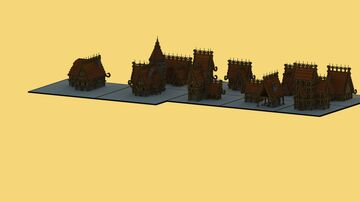 Medieval fantasy house bundle Minecraft Map & Project