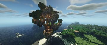 Floating Island Base Minecraft Map & Project