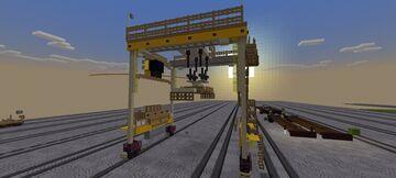 Rail mounted gantry crane Minecraft Map & Project