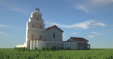 San Diego de Alcalá - Mission Church American Latino Minecraft Map & Project